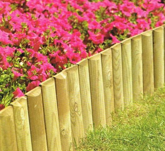 Rondins 1 2 rondins lavaud piquets for Bordure jardin demi rondin bois